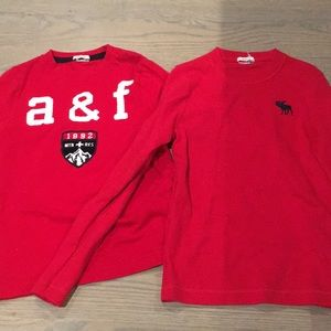 Lot of 2 Abercrombie and Fitch long sleeve tshirts